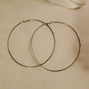Ridiculously big hoop earrings